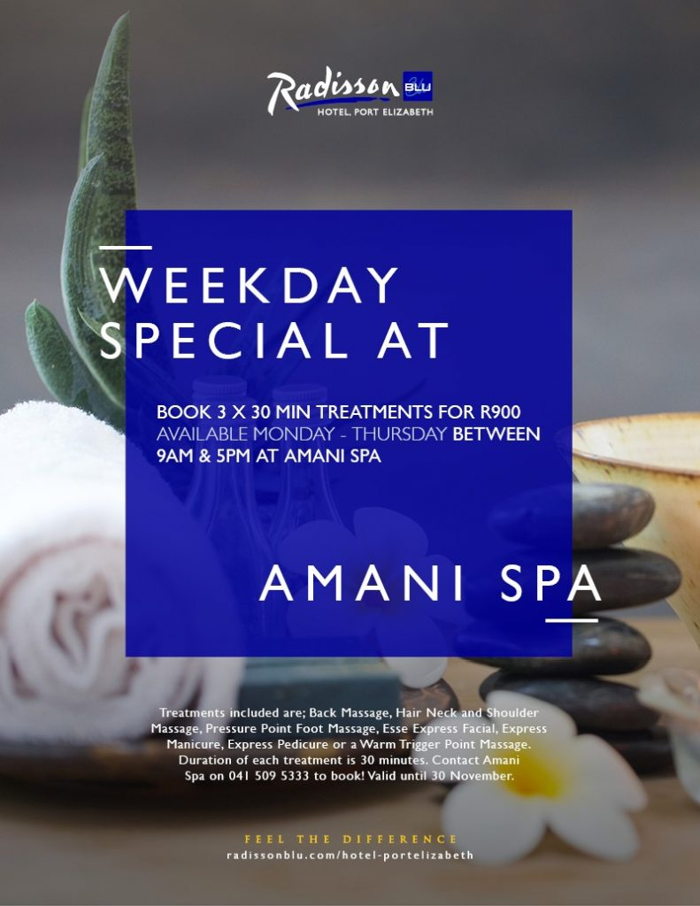 Amani Spa at Radisson Blu Hotel Port Elizabeth
